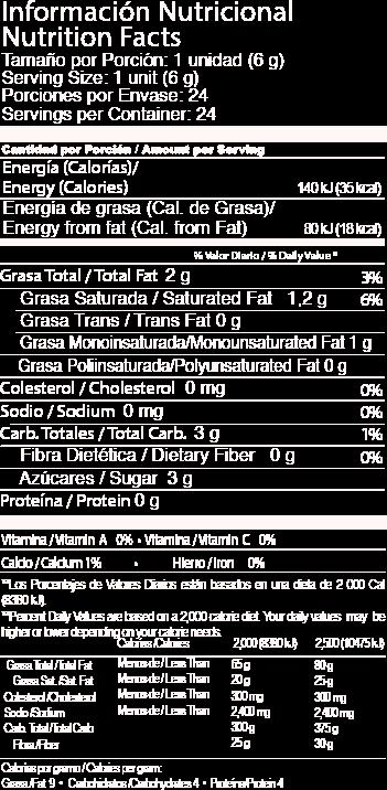tabla 6gr leche jet