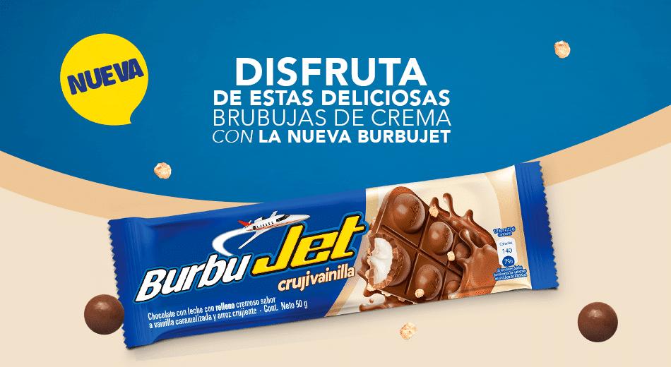 Disfruta las burbujas de chocolate que trae Burbujet